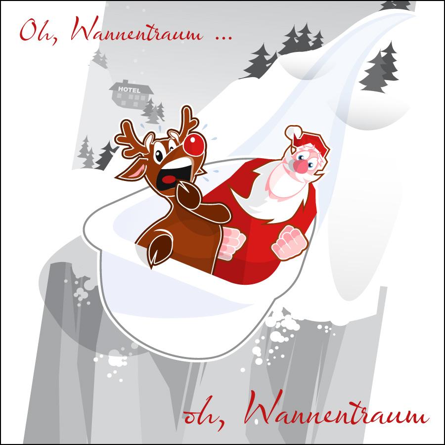 Weihnachtskarte Installateur- designed by harald