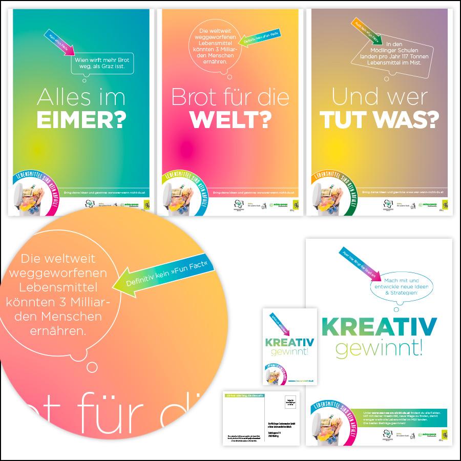 Plakatkampagne für Schulen im Bezirk Mödling - designed by harald