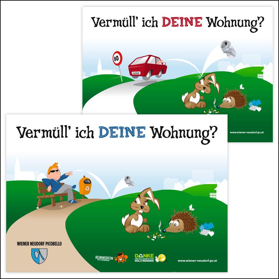 Illustrationen für Schilder in Wr. Neudorf - designed by harald