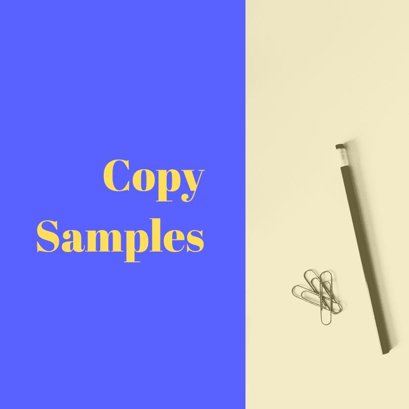 Work samples: website & email copy, Ekaterina Howard
