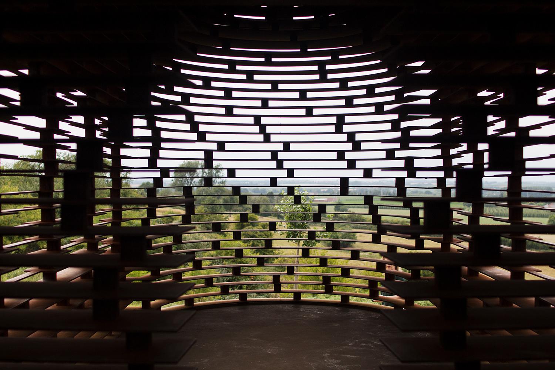 'Reading Between the Lines' construction by Gijs Van Vaerenbergh in Borgloon, Belgium