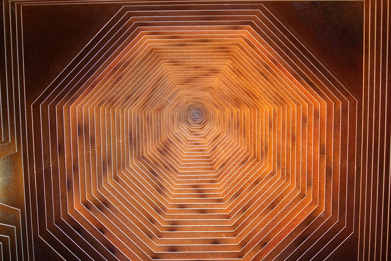 Ceiling in 'Reading Between the Lines' construction by Gijs Van Vaerenbergh in Borgloon, Belgium