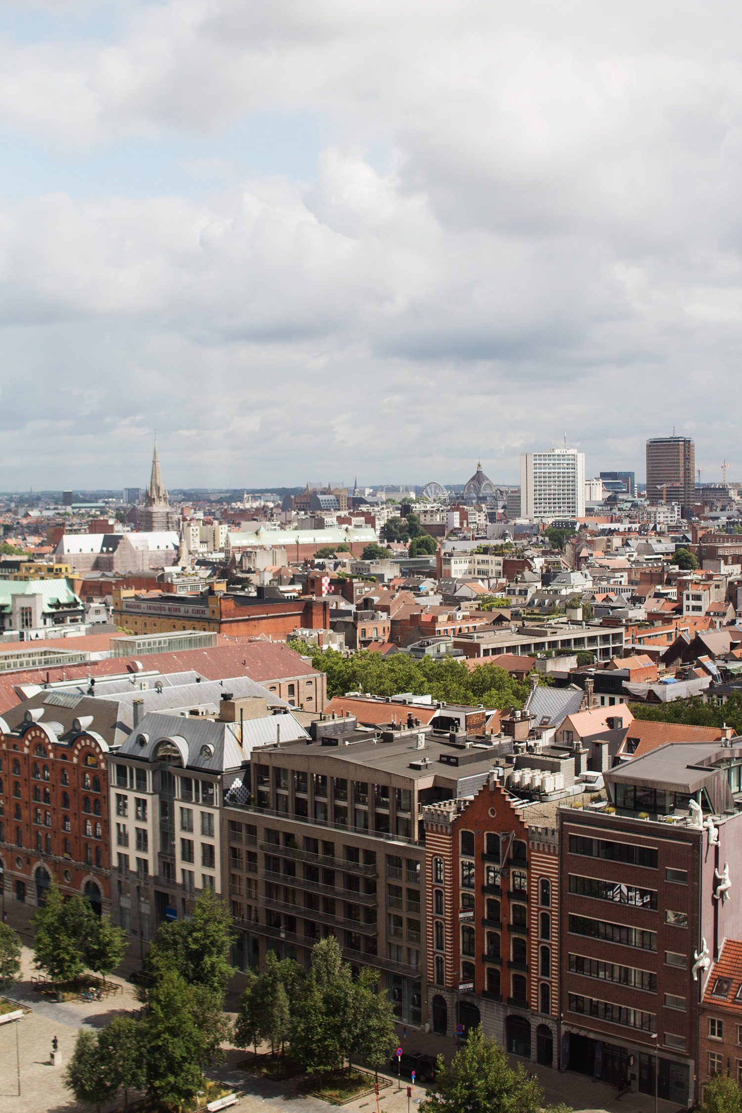 View of Antwerp city centre from the MAS Museum