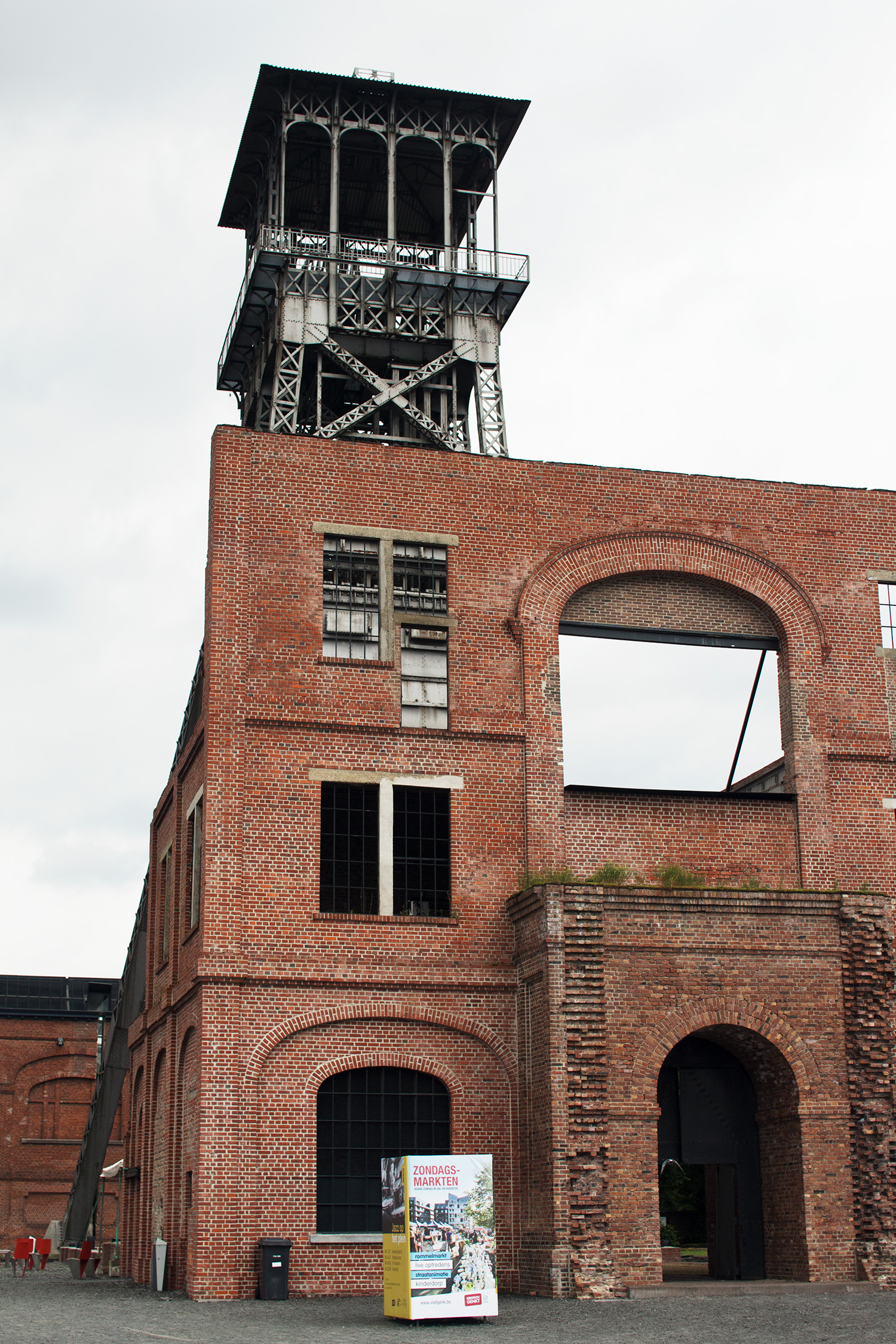 Image of former coal mines at C-mine in Genk