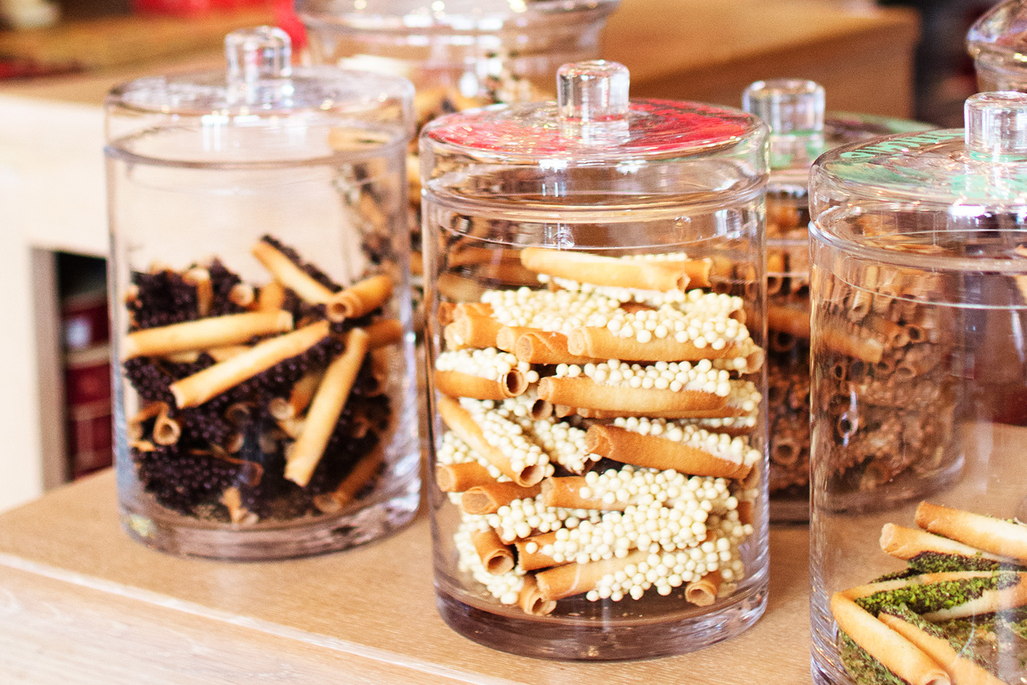 Biscuits in a jar at Biscuits Delacre in Brussels