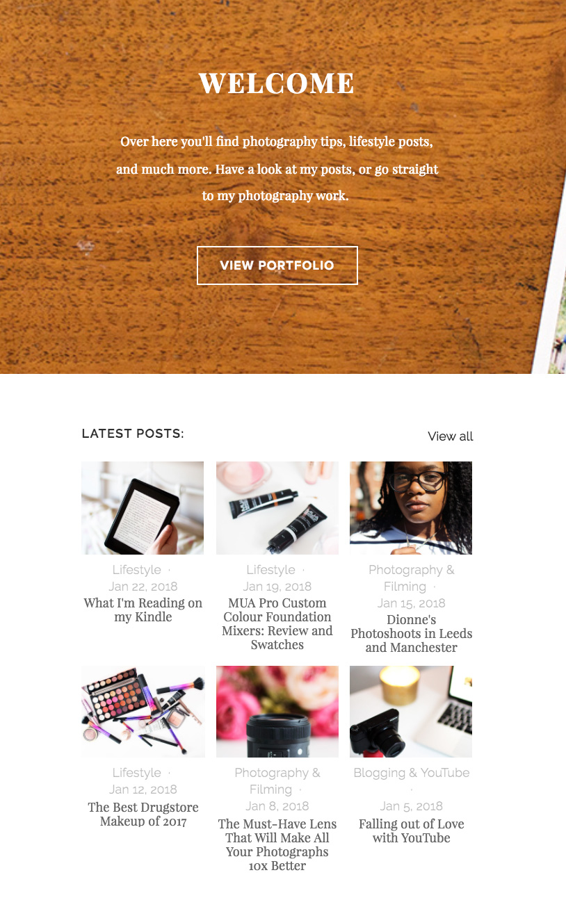 Squarespace blog layout by Alice Red
