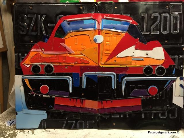license-plate-art #corvettemuseum