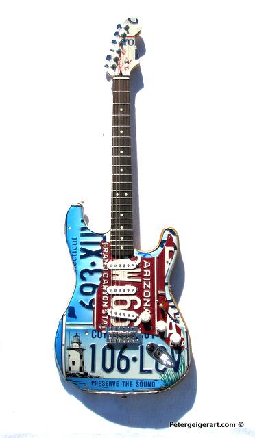License plate art National Guitar Museum.JPG