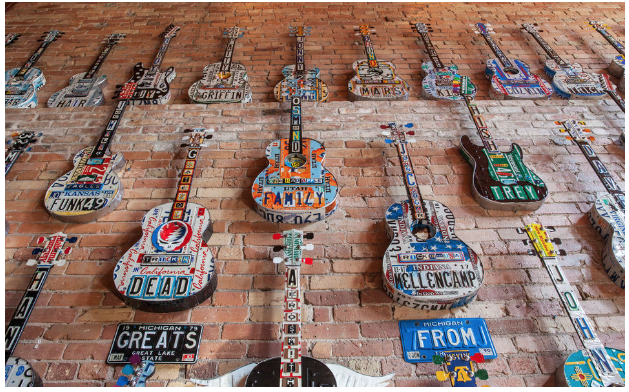 License Plate Guitars in Grand Rapids