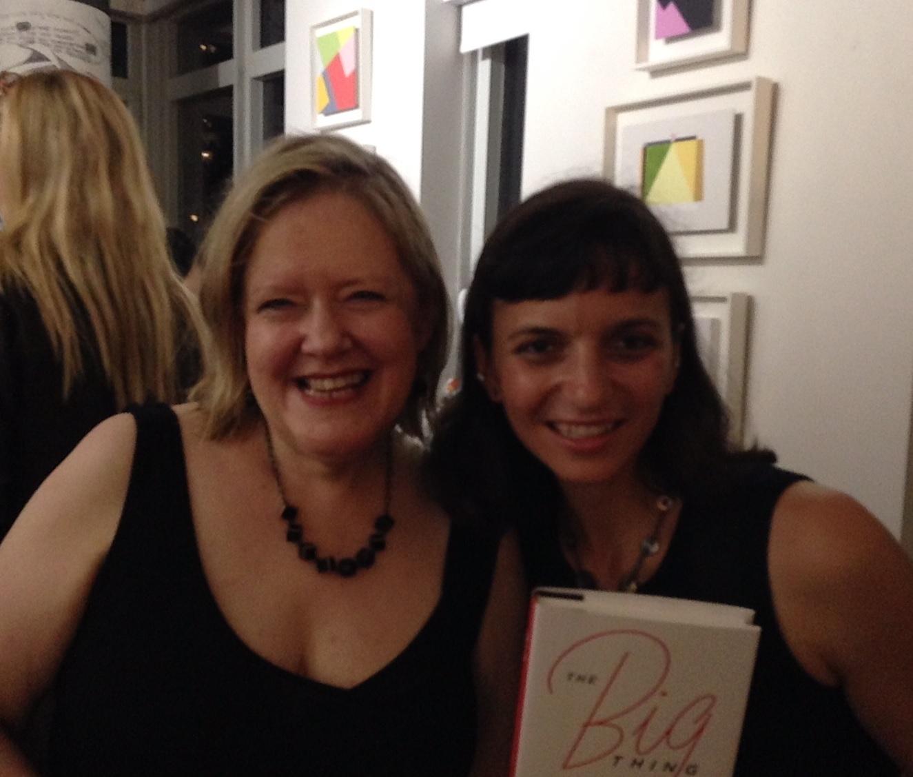 phyllis Korkki & me at the big thing launch (aug 2016)