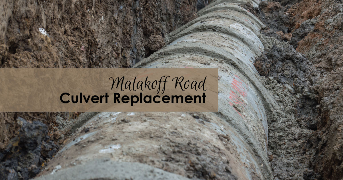 Malakoff Road culvert replacement