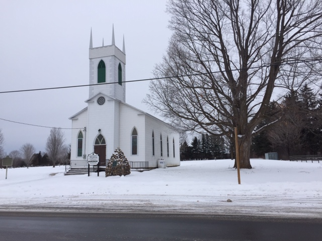 We may be ready for spring but at least winter is beautiful! This is a church in Burritt's Rapids captured before our Town Hall in January.