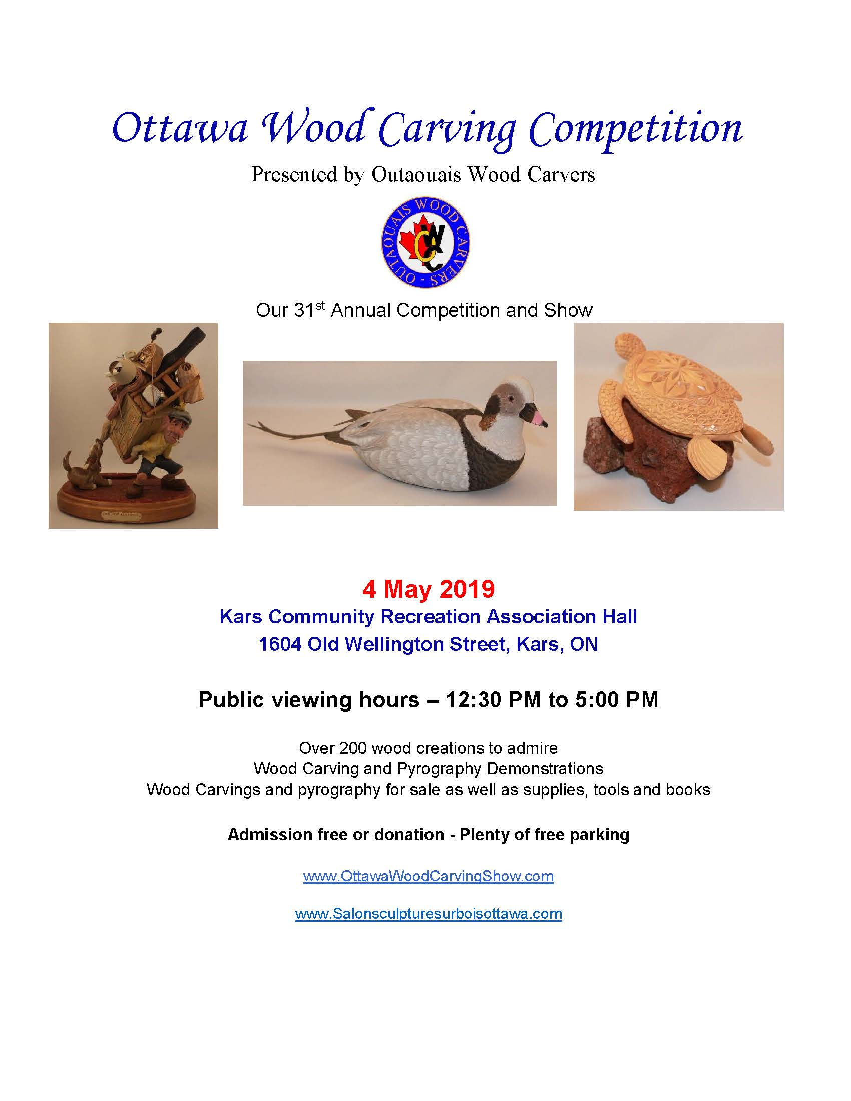 31st Annual Ottawa Wood Carving Competition — Rideau-Goulbourn