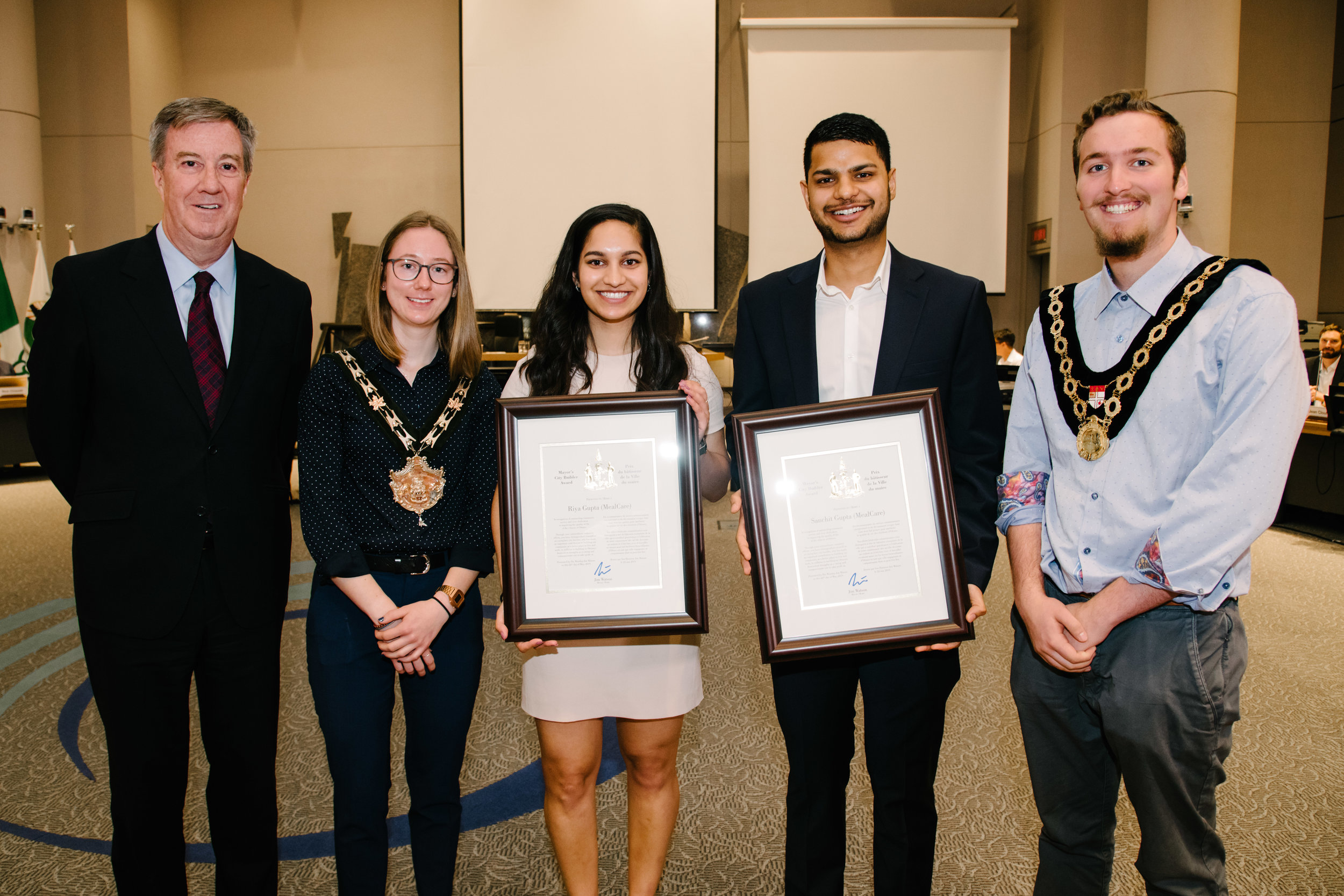 Congratulations to Rideau-Goulbourn residents Sanchit and Riya Gupta on receiving the Mayor's City Builder Award at Council on Wednesday, May 22. The Guptas established a chapter of MealCare, a non-profit organization that aims to combat food waste, in Ottawa. Working with local restaurants, university cafeterias and grocery stores, the Guptas take in surplus food, and, with the help of fellow volunteers, redirect it to shelters and soup kitchens where it is needed most.