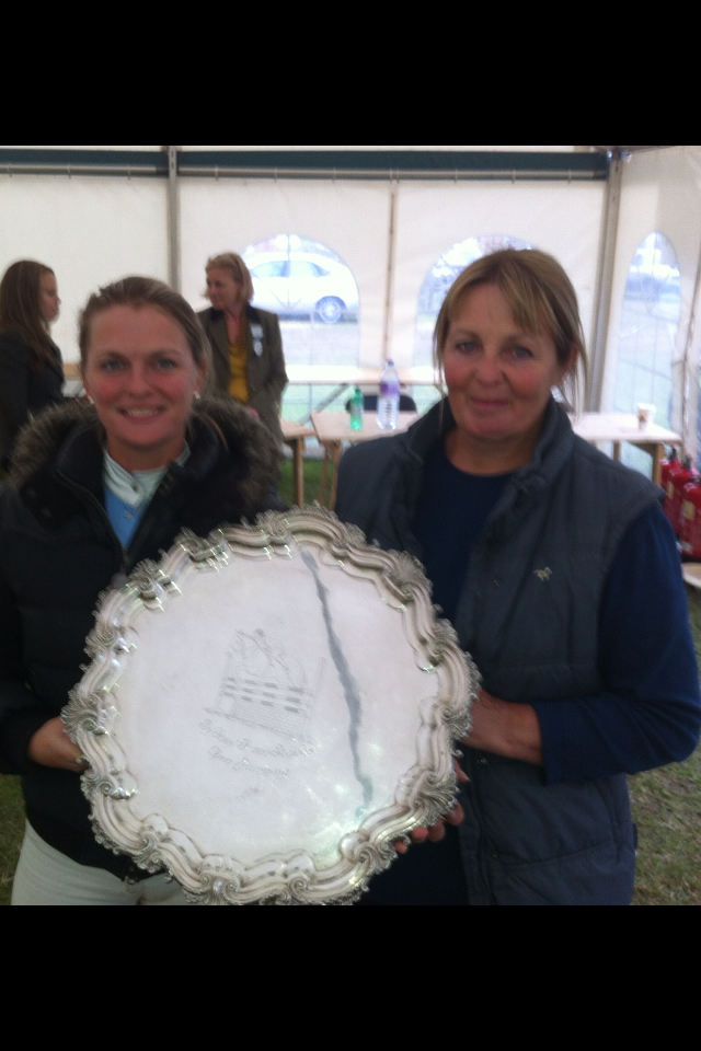 Calvaro B winning a lovely silver Salver for owner Jane Dixon
