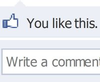 Image of a Facebook like on a post