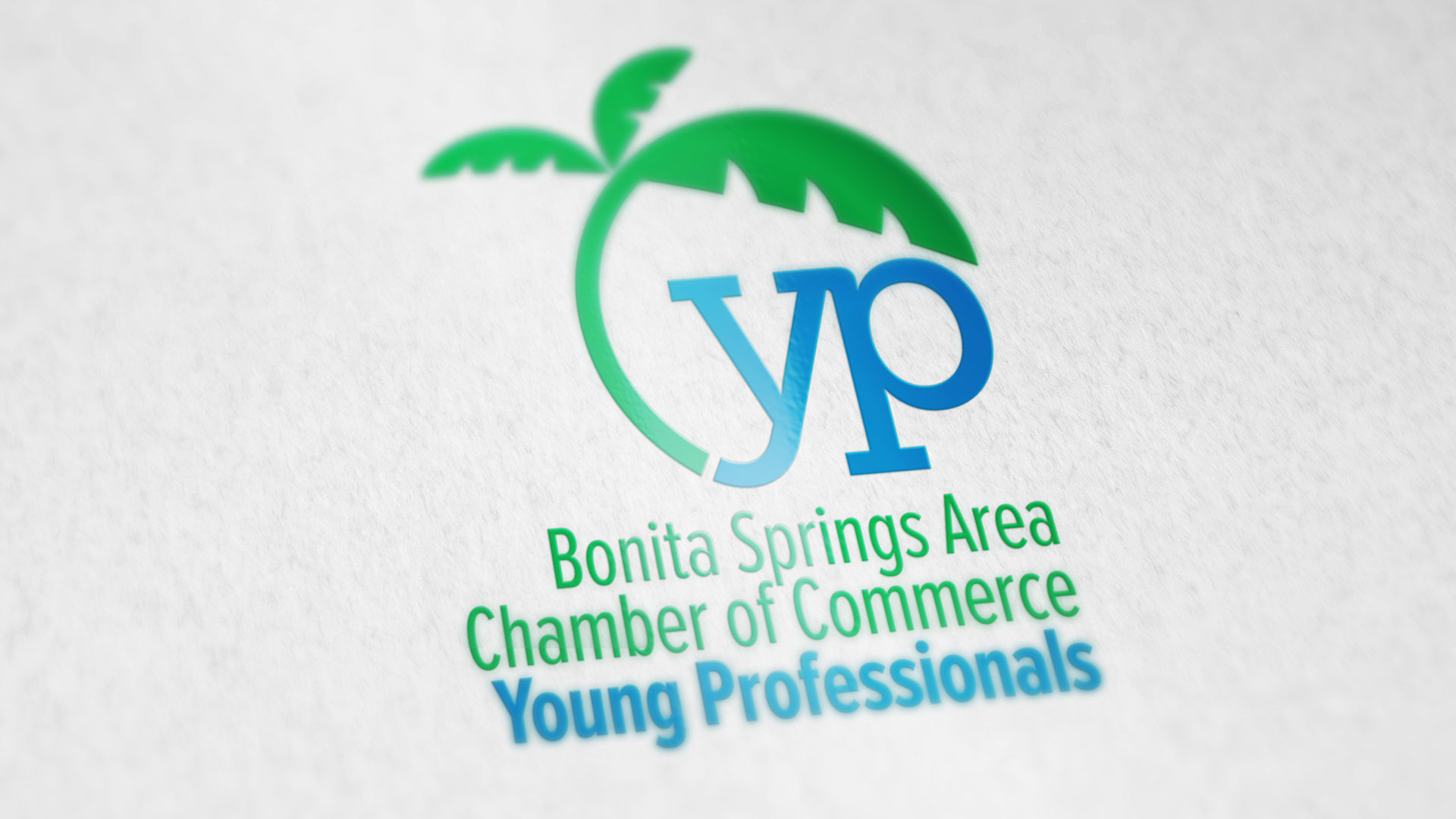 Image of Bonita Springs Area Chamber of Commerce Young Professionals logo on stationery
