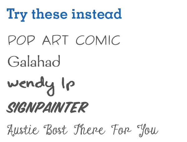 Image of better font examples