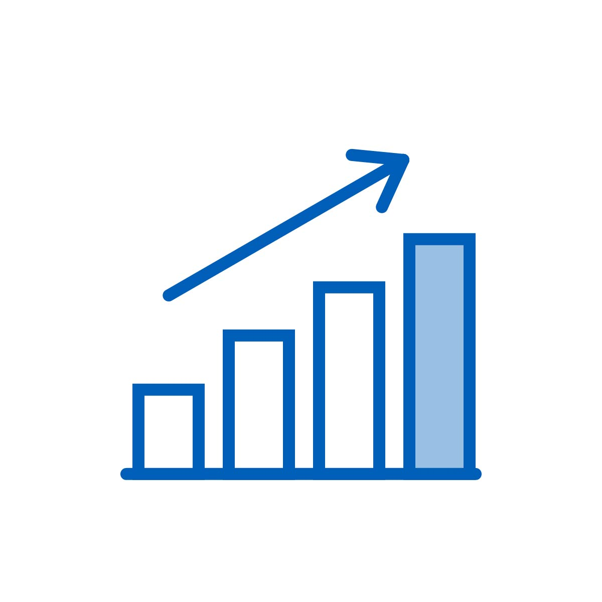 Icon graphic depicting growth, the result of attracting and retaining your ideal customers through targeted inbound marketing from the Be Brilliant! Marketing Team.