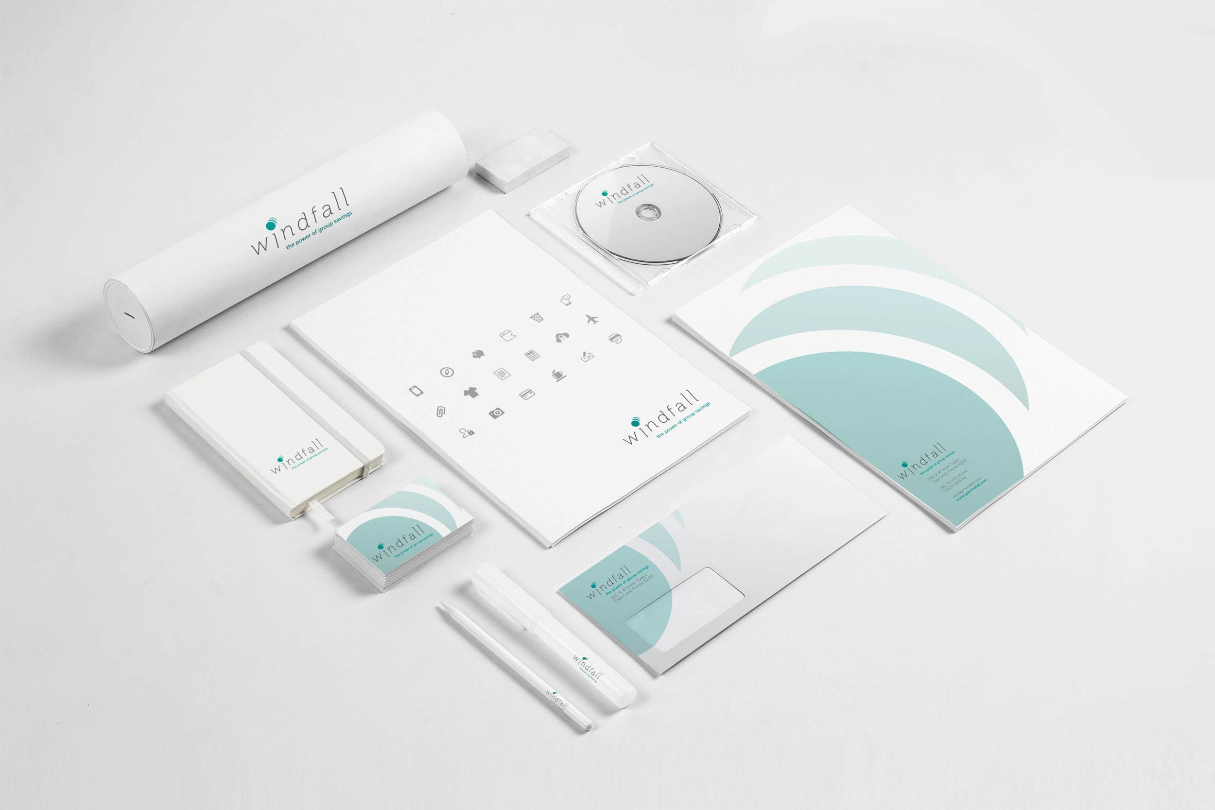Windfall brand identity design by Be Brilliant Marketing