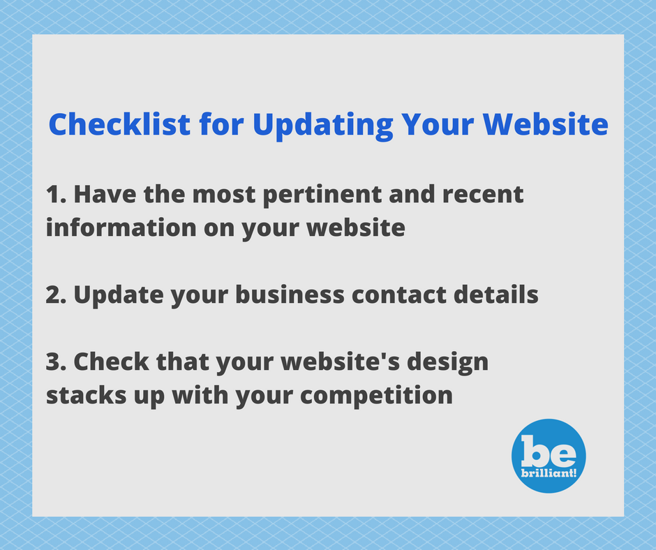 Graphic: Checklist for Updating Your Website.