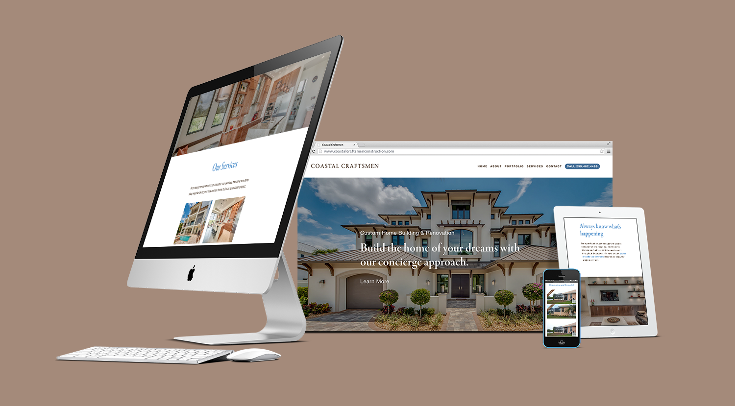 Coastal Craftsmen Construction website design