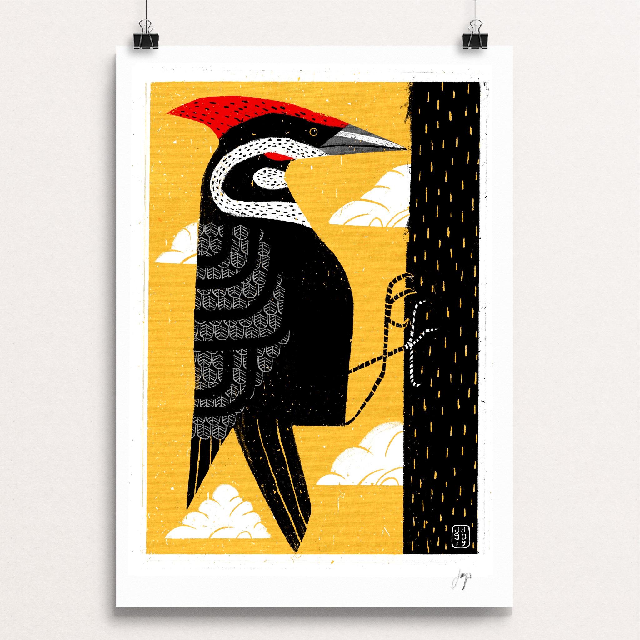 15 20 Winter Birds Pileated Woodpecker Clips.JPG