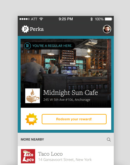 Perka App - I was responsible for the design of the Perka App on iOS & Android. Perka (now Clover Rewards) is a loyalty rewards app for customers that aimed to do away with paper punch cards.