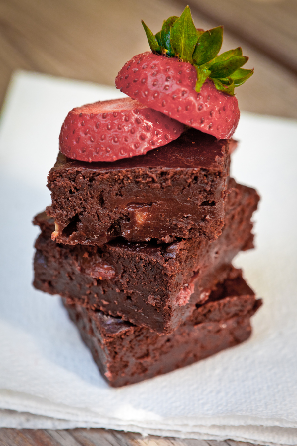 strawberry banana fudge brownies