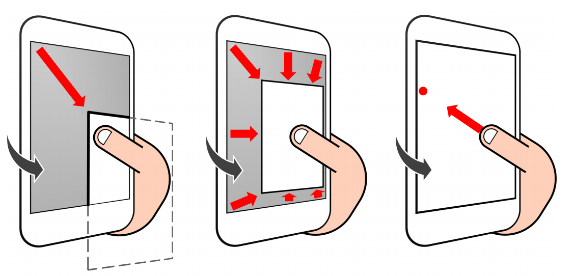 Three novel methods for reaching far targets by a thumb on a large screen smartphone