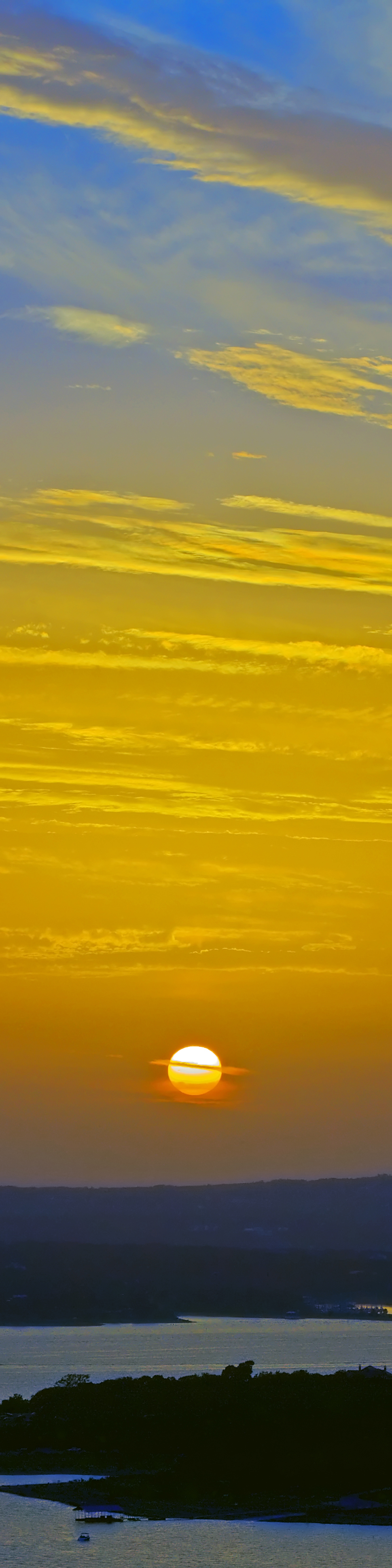 Sunset Blue & Gold No. 1