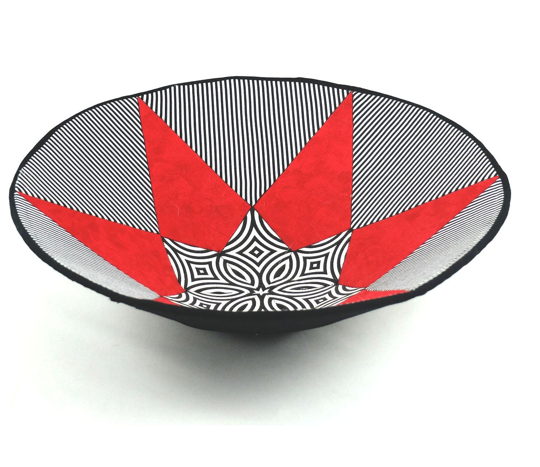 B&W Stripe Triangle with Red.jpg