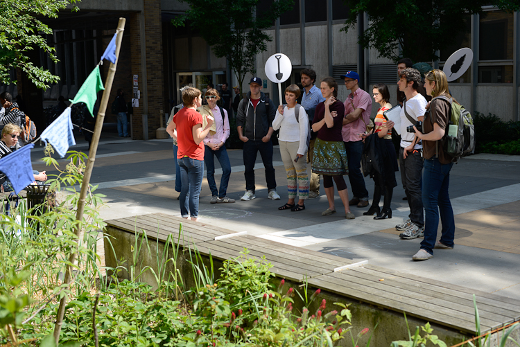 The tour series is a collaboration with ecologists to develop an education program centered on urban ecosystems.