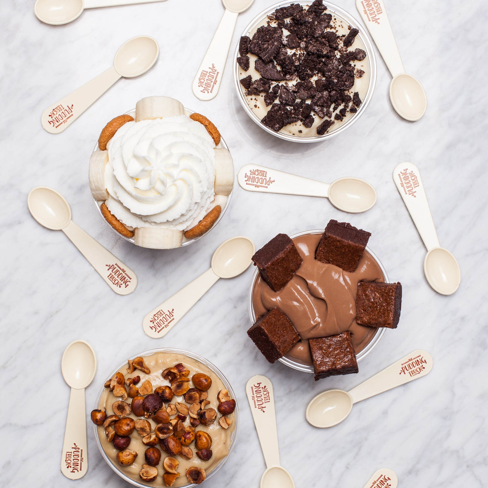 Seasonal Flavors - Vegan: Chocolate Hazelnut, Key Lime Coconut, Brown Sugar Banana, Vanilla Almond, Toasted Coconut Rice Pudding.Rotating: Pistachio Baklava, Stumptown Coffee, Peanut Butter, Lemon, Cheesecake, Pumpkin, and more.