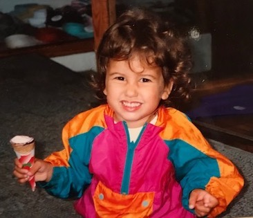 Proof of my Millennialness: Toddler me in the straight up ninetiesest jacket ever created. Is that a built in fanny pack? Sure looks to be!