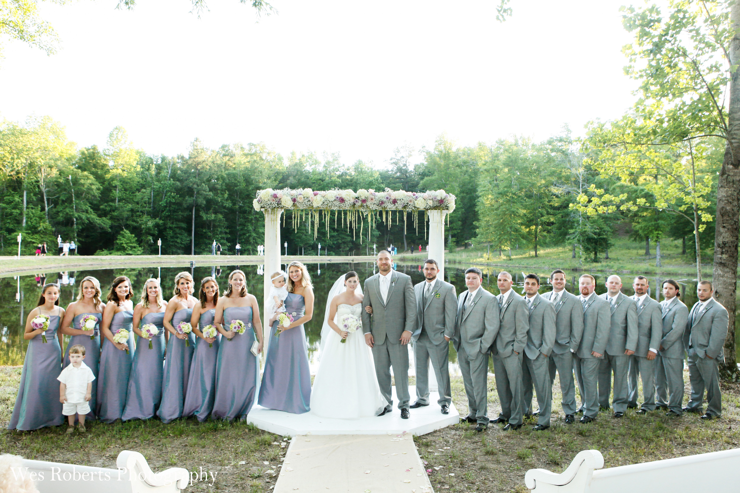 On April 28, 2012, we held our first wedding at Pisgah Hill. Our great friends John and Lacy exchanged vows in front of the big pond.