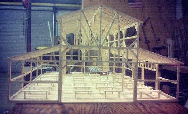 Front view.  Thanks to Mr. Frank for building our model barn and being one of our biggest supporters.
