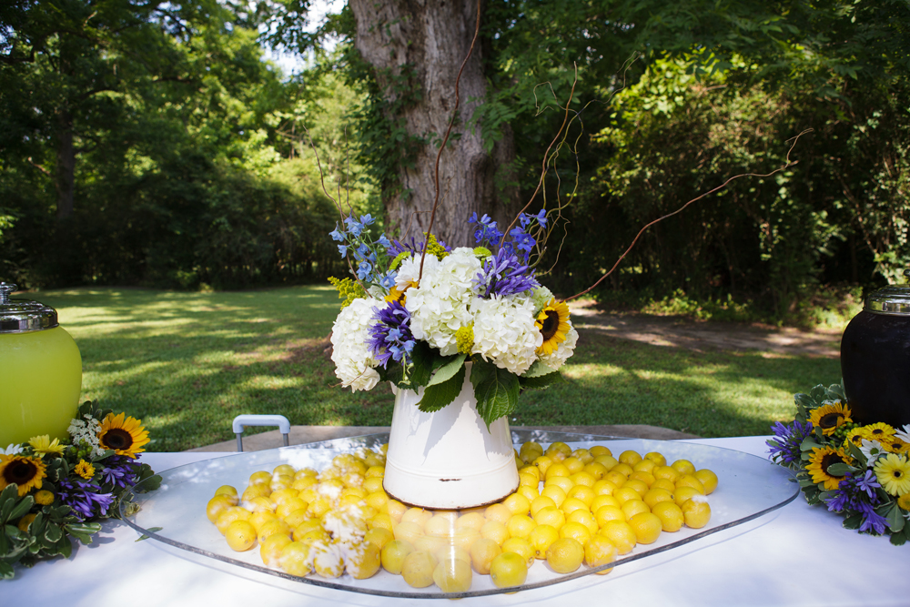 This is one of my favorite drink stations we have done to date!  The floral rings around the drink urns were STUNNING!