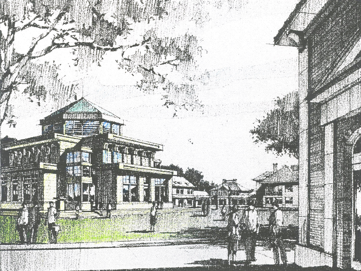 Competition Entry, Campus Drawing