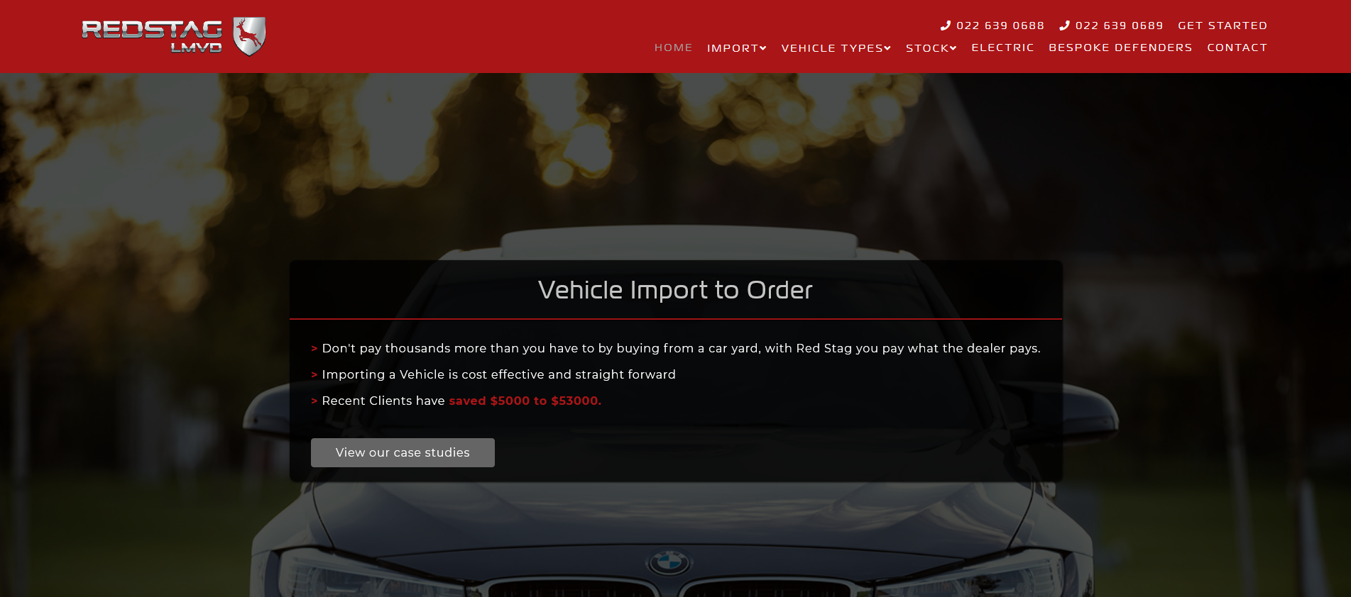 Red Stag Vehicle Importer