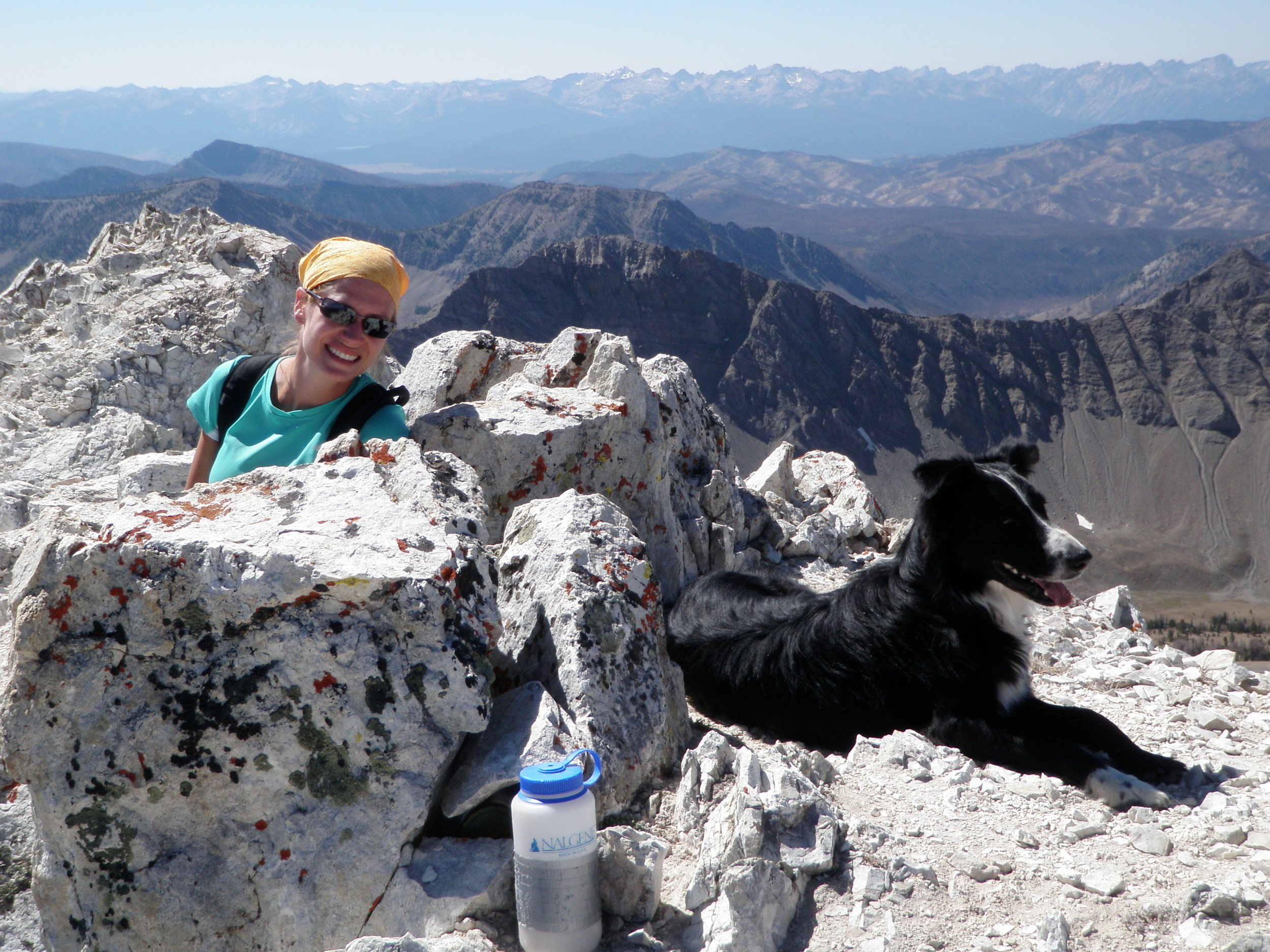 Betsie & Laddi at 11,200 feet in the Boulder White Clouds