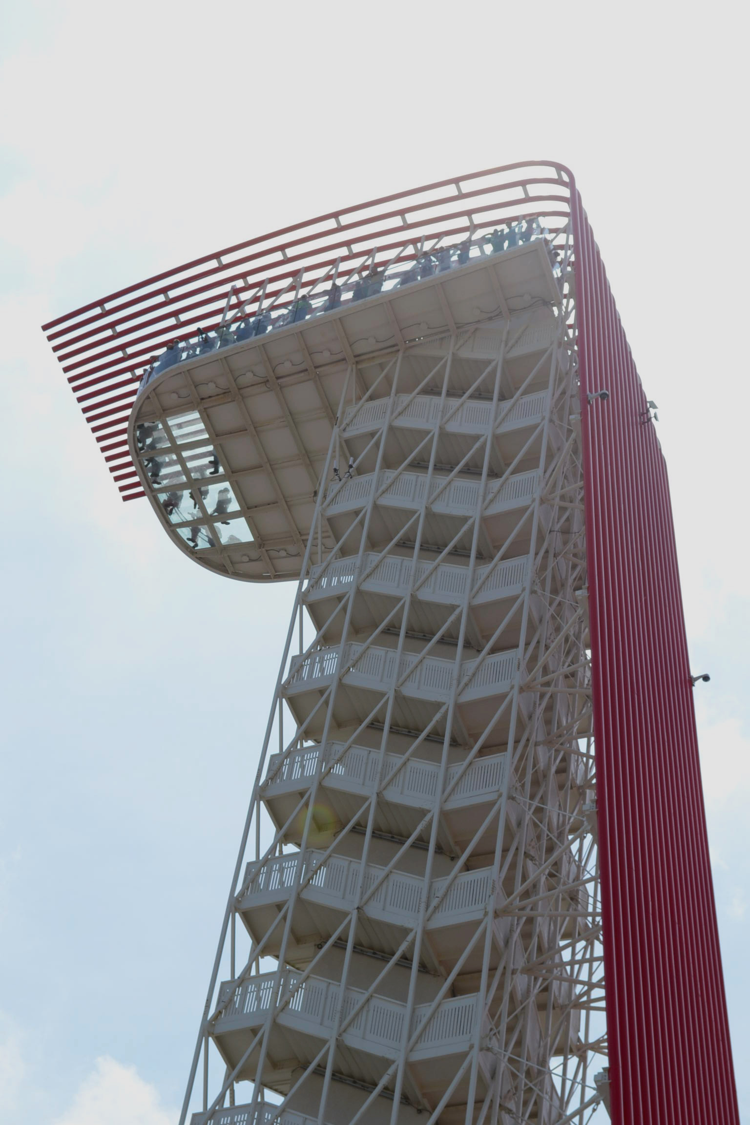 The tower stands 251 feet in the air.