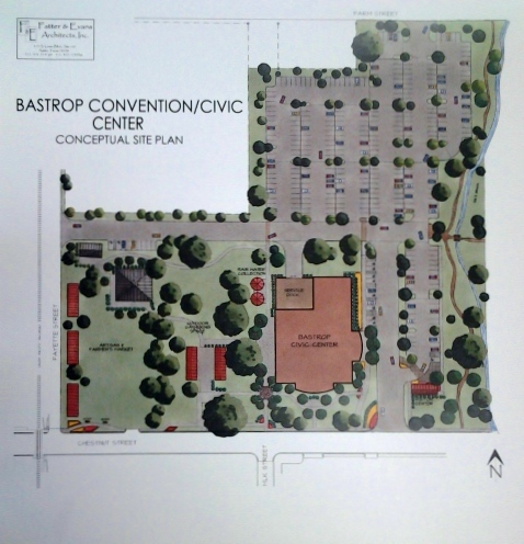 Bastrop Convention Center - Conceptual Site Pl