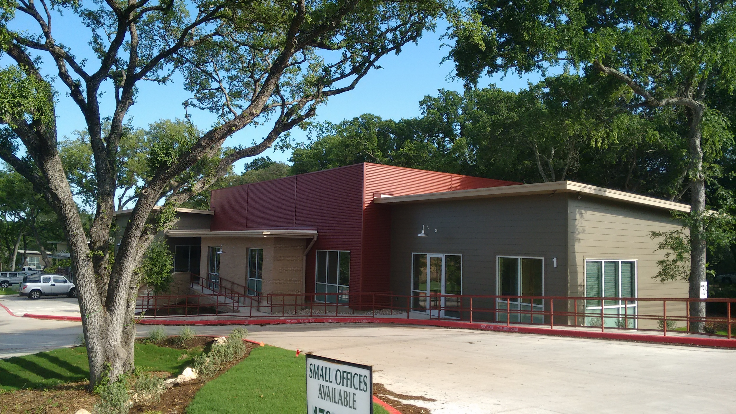 Building 1 at the new Office Complex on 7509 Manchaca Rd