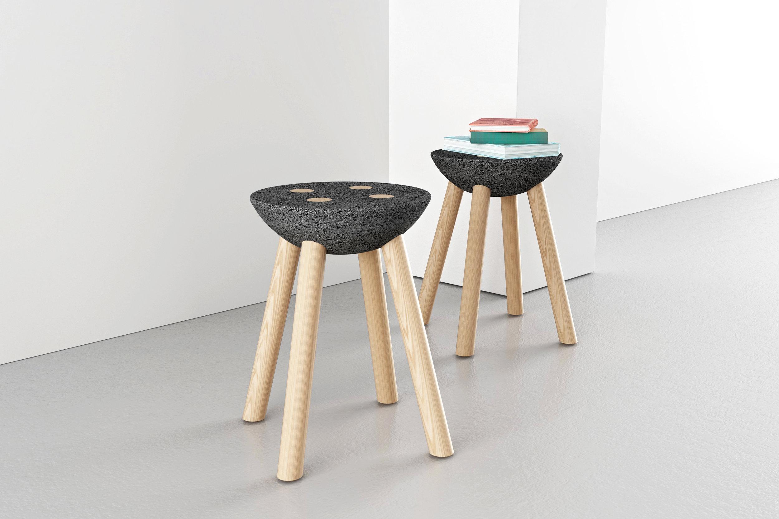 BASALTIC stools