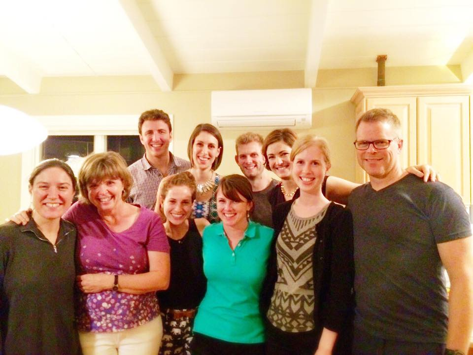 The Tanglewood Flute Party. From the left: Elizabeth Ostling (Associate Principal Flute of the Boston Symphony), Cynthia Meyers (Piccolo of the Boston Symphony), Matthew Roitstein (Associate Principal Flute of the Houston Symphony), Blair Francis (2015 TMC Flute Fellow), Catherine Baker (2015 TMC Flute Fellow), Kelly Zimba (2015 TMC Flute Fellow), Clint Foreman (Second Flute of the Boston Symphony), Elizabeth Rowe (Principal Flute of the Boston Symphony), Johanna Gruskin (2015 TMC Flute Fellow), John Thorne (Former Associate Principal Flute of the Houston Symphony and current Professor of Flute at Northwestern University).
