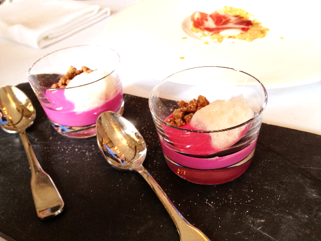 A beet yogurt. Simple. Nothing crazy.