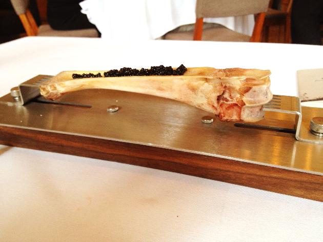Veal Marrow with Caviar. Awesomeness.