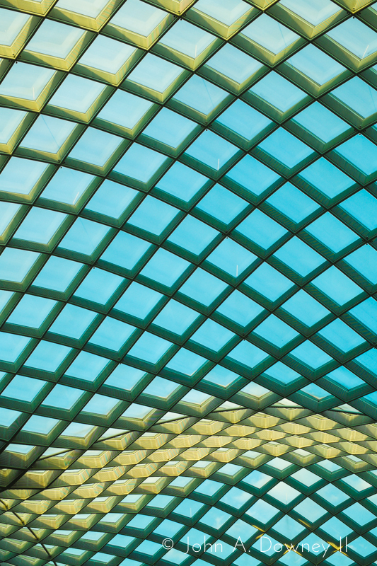 Detail of the National Portrait Gallery atrium roof.