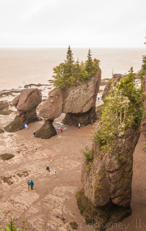 One hour prior to low tide at Hopewell Rocks. New Brunswick, Canada, 2013.